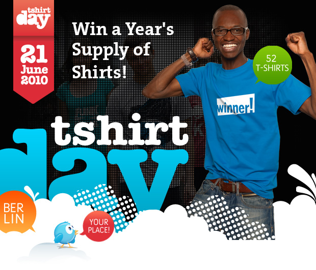 win a year's supply of shirts