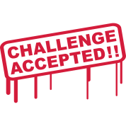 Challenge Accepted Stamp T-Shirt | Spreadshirt