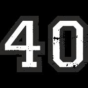 number 40 forty 40th birthday design eu t shirt spreadshirt. Black Bedroom Furniture Sets. Home Design Ideas