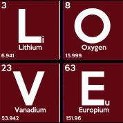 Periodic table elements li ov eu love by sg design spreadshirt design details urtaz Choice Image