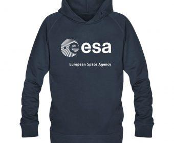 Men´s organic hoodie ESA European Space Agency dark blue