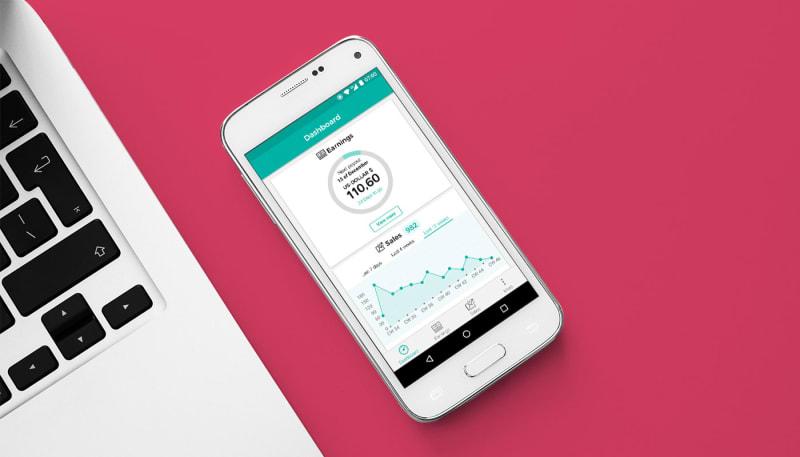 Screenshot app Spreadshirt Sales Stats