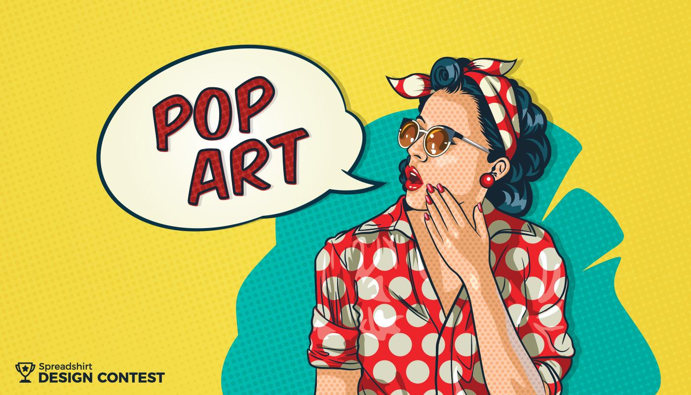 spreadshirt announces pop art design competition. Black Bedroom Furniture Sets. Home Design Ideas
