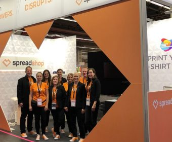 The team at the Spreadshop booth at Frankfurt Book Fair
